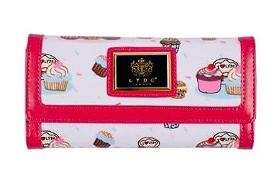 LYDC - Portefeuille Femme Rétro avec cupcakes imprimés