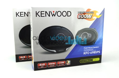 "2 Pair Kenwood Kfc-6985Ps 6X9"" Performance Series 4-Way Flush Mount Coaxial Car Speakers (4 Speakers)"
