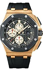 Audemars Piguet ROSE GOLD and CERAMIC 44 Offshore Chronograph watch 26401RO.OO.A002.CA.01