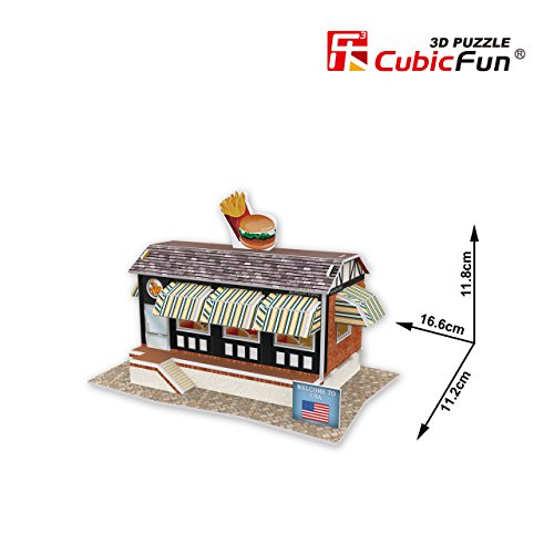 CubicFun 3D Puzzle World Style-Series ''American Flavor - Fast Food Restaurant'' - 1