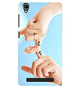 PRINTSHOPPII LOVE Back Case Cover for Intex Aqua Power Plus
