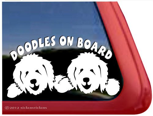 Doodles On Board ~ Vinyl Window Dog Decal Sticker front-388121