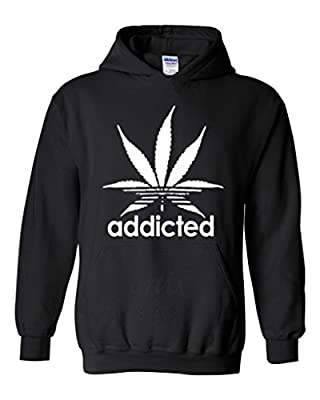 Artix Addicted White Leaf Unisex Hoodie Weed Related Sweatshirts
