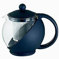 Service Ideas TB600CC Classic Tea Press, 600 mL, Black