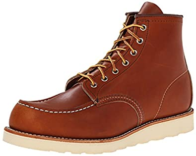 "Red Wing Heritage Men's 6"" Moc Toe Boot, Oro-Legacy, 7 M US"