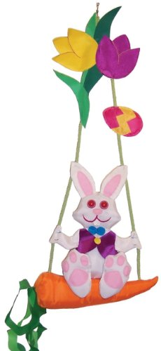 In the Breeze Bunny Swingerz Outdoor Hanging Decor