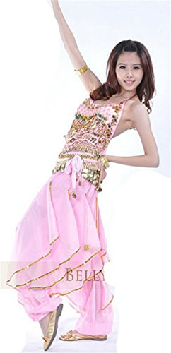 Dreamspell Professional Hot Pink 3 pieces Belly Dance Costumes Dancing Suit