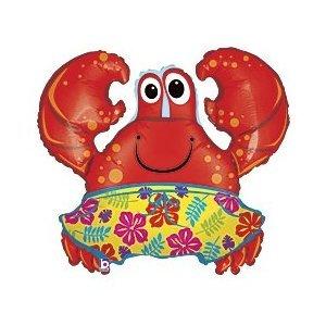 """Beach Crab Shaped 36"""" Mylar Balloon"""