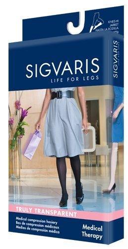 Sigvaris 772C Truly Transparent 20-30 mmHg CALF, MED, 3, W - CT DK NAVY