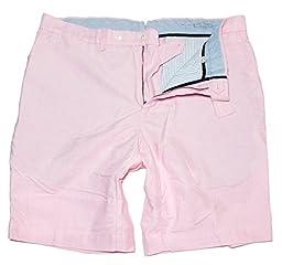 Polo Ralph Lauren Men\'s Big and Tall Classic Hudson Oxford Shorts, Rose, TALL 40