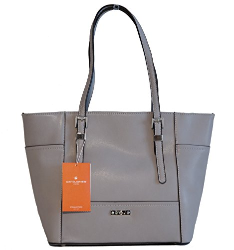 Borsa donna David Jones in ecopelle modello shopper - grigia