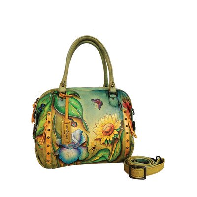 Anuschka Zip Top Satchel FDS, Floral Dreams, One Size