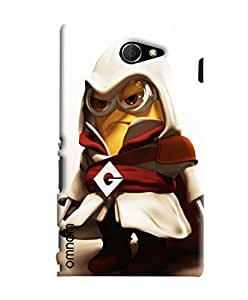 Omnam Minion Dressed Printed Designer Back Cover Case For Sony Xperia M2