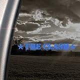 The Clash Blue Decal Punk Band Car Truck Window Blue Sticker