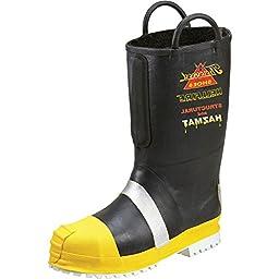807-6003 Thorogood Men\'s HELLFIRE Rubber Boots - Black - 9.0\\M