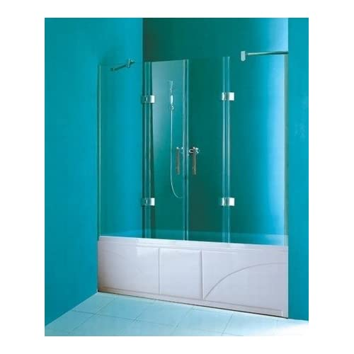 Amazon.com - LineaAqua Paris 60 x 55 Frameless Bath Tub Screen Hinged