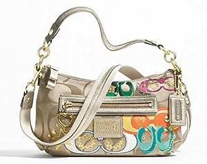 100% Authentic Coach Daisy Poppy C Applique Crossbody Messenger Convertible Shoulder Bag