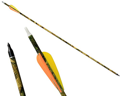 12Pack-Outdoors-Carbon-Arrow-31-Inch-Camo-Carbon-Shaft-Arrows-with-Practice-Replaceable-Tips