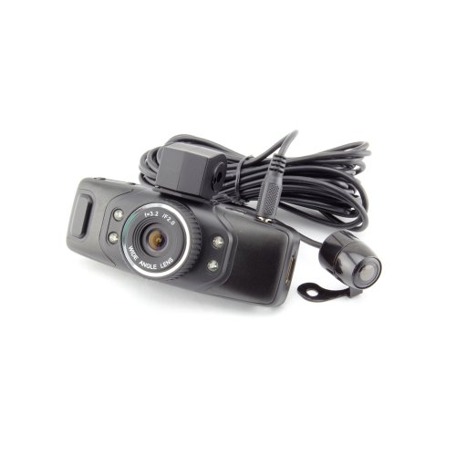 1.5 inch TFT LCD Vehicle Car DVR Recorder Camera Road Safety Guard with G-sensor Dual Lens- Black