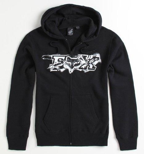 Fox Blackened Zip Hoodie - Black X Med Size