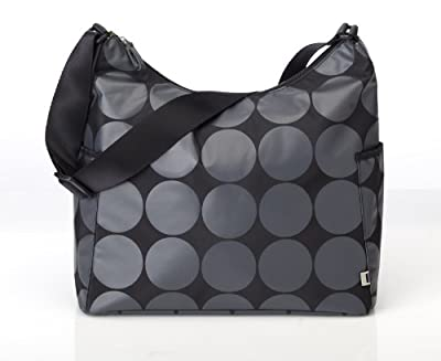 OiOi Charcoal Dot Hobo Baby Changing Bag with Lime Lining and Accessories by OiOi