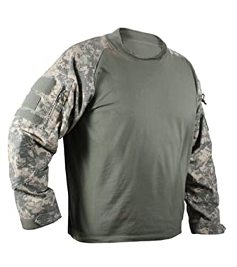 Buy Tactical Military Combat Camo Paintball Airsoft Mock Shirt by Mafoose