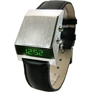 ZX1 Green LED Watch Drivers Retro 70s Style Digital Display - Limited Edition - Collectors Classic Model