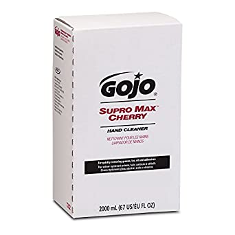 GOJO 7282-04 2000 mL Supro Max Cherry Hand Cleaner, PRO TDX 2000 Refill, (Case of 4)