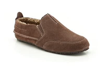 Clarks Mens Seasonal Kite Laser Suede Slippers In Brown Standard Fit Size 10