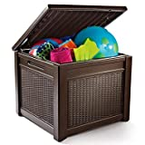 Keter All-Weather Rugged Plastic Outdoor Patio Pool Storage Table or Bench