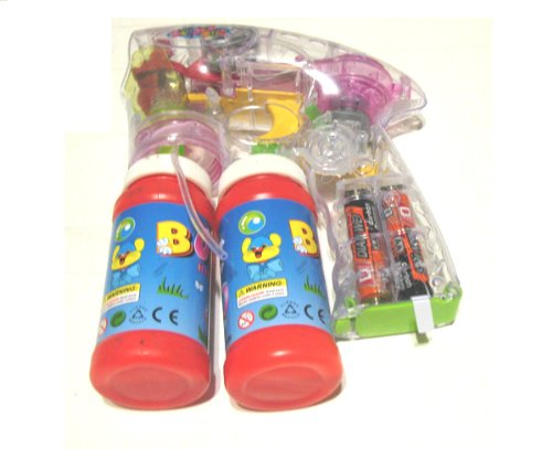 Led Bubble Gun with Endless Bubbles, and Light up ~ Batteries Included(color may vary))
