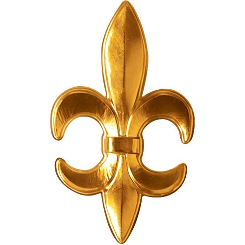 Gold Plastic Fleur De Lis Party Accessory (1 count) - 1