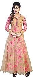 Anbazaar Cream Net Gown
