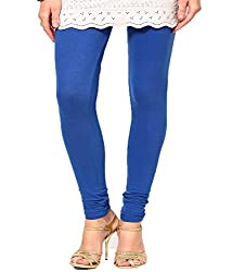 VAG Sales Women's Cotton Leggings (VAG_Blue-L_Blue_Large)