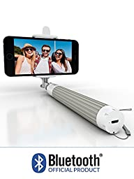 Selfie Stick, Bluetooth Certified Monopod - Advanced Design For All iPhones (iOS 5.0+), Samsung Galaxy, Note, Android Phones (4.2+) - Takes HD Photos, Video, Operates Flash
