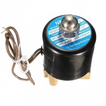 1/4Inch Ac110/120V Electric Valve Water Oil Air Normal Closed