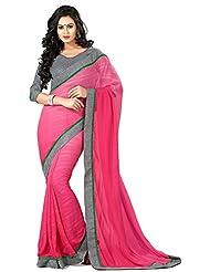 AG Lifestyle Women's Chiffon Saree(DVY4008, Pink)