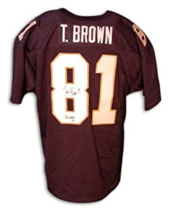 Autographed Tim Brown Blue Notre Dame Jersey by Athletic+Promotional+Events+Inc.