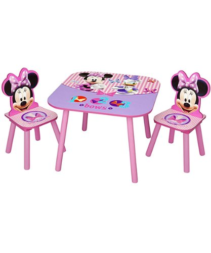 Minnie Mouse Kids' 3 Piece Table and Chair Set