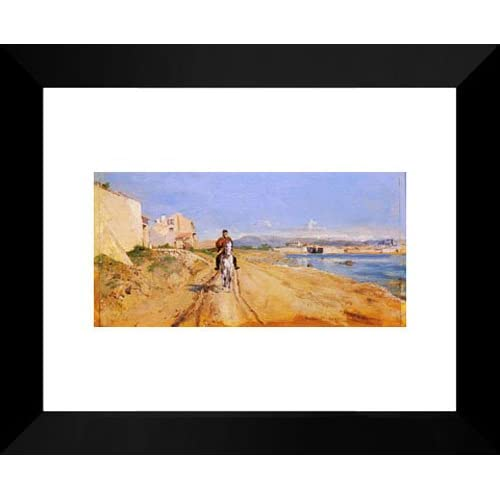 Amazon.com: Self'Portrait Along The Route De La Salice, Antibes 20x24