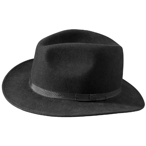 6bba45ff Country Gentleman Mens Wilton Fedora Hat Black M | Hat Outlet Sale