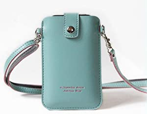 Universal Smart Wallet/pouch with Shoulder Strap for Iphone 4/4s - Blue