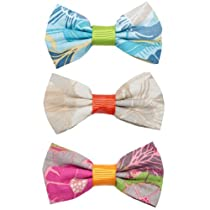 Via Cacao Hair Bow Classic Chic Blue, Ivory & Fuchsia Set