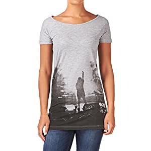 Roxy Forever Young Fall In Love T-Shirt - Heather Grey