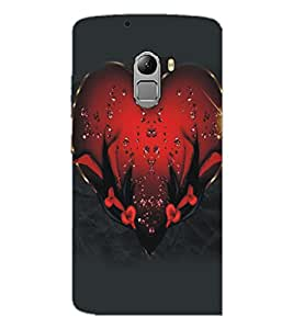 PrintDhaba Heart D-5122 Back Case Cover for LENOVO K4 NOTE A7010a48 (Multi-Coloured)