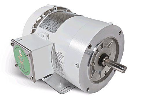 1/2 Hp 1725 Rpm 56C Frame Tenv 208-230/460 Volts Wash Down Duty Leeson Electric Motor # 113586