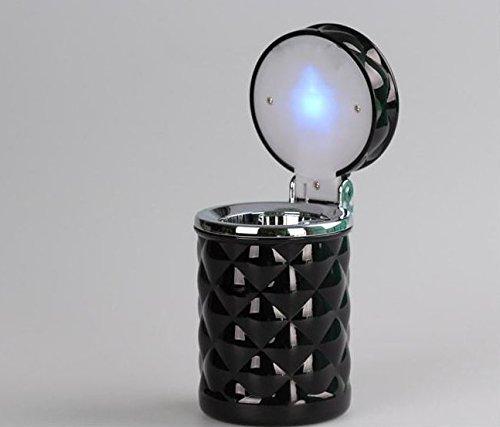 AOAUTO(TM) Car Ashtray with LED inside (A2 black)