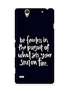 AMEZ be fearless i the pursuit Back Cover For Sony Xperia C4