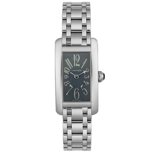 CARTIER Watches:Cartier Women's W260051L1 Tank Americaine 18K Solid White Gold Watch Images