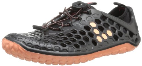 Vivobarefoot Women's Ultra Running Shoe,Black/Salmon,35 EU/5 M US
